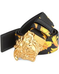 Versace - Baroque Leather Belt - Lyst
