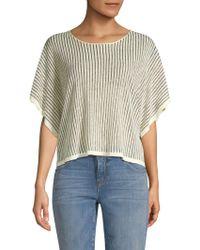 Eileen Fisher - Wide Sleeve Organic Linen Blend Top - Lyst
