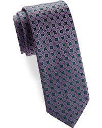 Charvet - Leaf Silk Narrow Tie - Lyst