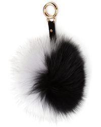 Adrienne Landau - Fox Fur Pom-pom Keychain - Lyst
