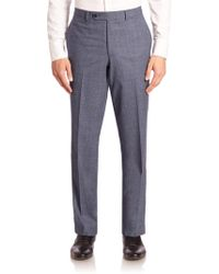 Saks Fifth Avenue - Heathered Wool Trousers - Lyst