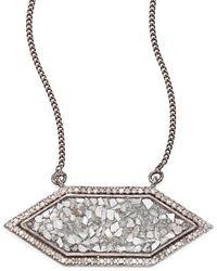 Shana Gulati - Shashi Raw Sliced Diamond Pendant Necklace - Lyst