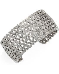 Adriana Orsini   Anise Wide Crystal Cuff Bracelet   Lyst