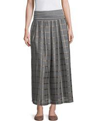 Peserico - Organza Check-print Skirt - Lyst