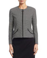 Akris Punto - Long Sleeve Grid Pattern Jacket - Lyst