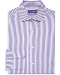 Ralph Lauren Purple Label - Purple Label Aston Striped Strandard Fit Dress Shirt - Lyst