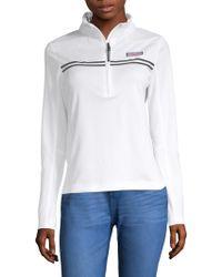 Vineyard Vines - Performance Tennis Shep Half-zip Sweater - Lyst