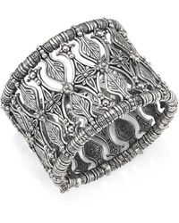 Konstantino - Penelope Sterling Silver Etched Cuff Bracelet - Lyst