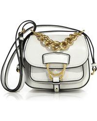 Miu Miu | Dahlia Small Madras Leather Saddle Bag | Lyst