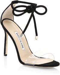 Manolo Blahnik - Estro Ankle Tie Stilettos - Lyst