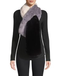 Saks Fifth Avenue - Colorblock Faux Fur Pull-through Scarf - Lyst