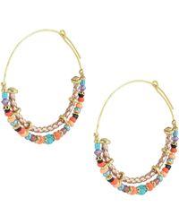Gas Bijoux - Beaded Hoop Earrings - Lyst