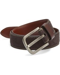 Saks Fifth Avenue - Contrast Stitched Leather Belt - Lyst