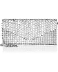 04f5ac76b Judith Leiber Swarovski Crystal Swan Clutch in Metallic - Lyst