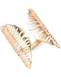 Ginette NY - 18k Rose Gold Ginkgo Ring - Lyst