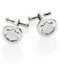 Montblanc - Round Swiveling Star Cuff Links - Lyst