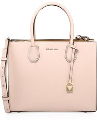 c84b478d075cb MICHAEL Michael Kors - Women s Mercer Large Leather Tote - Soft Pink - Lyst
