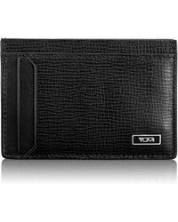 Tumi - Monaco Leather Money Clip Card Case - Lyst
