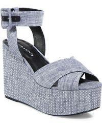 Alice + Olivia - Violet Studded Platform Sandals - Lyst