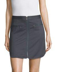 BCBGMAXAZRIA - Jania Zip-front Mini Skirt - Lyst