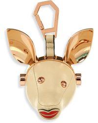 Kendall + Kylie - Blu Leather Dog Bag Charm - Lyst