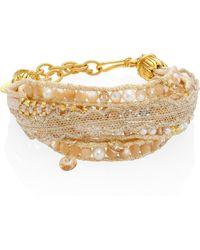 Chan Luu - 3-4 White Freshwater Pearl & Natural Mix Multi-layer Bracelet - Lyst