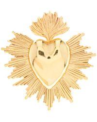 Oscar de la Renta Goldtone Sacred Heart Brooch