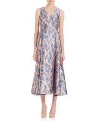 L.K.Bennett - Sulan Floral-print Midi Dress - Lyst