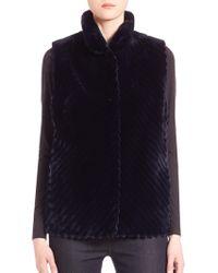 Saks Fifth Avenue - Reversible Fur Vest - Lyst