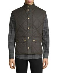 Barbour - Countrywear Wax Lowerdale Quilted Vest - Lyst