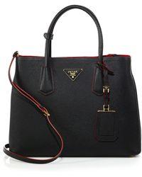 Prada - All Designer Products - Saffiano Cuir Medium Double Bag - Lyst