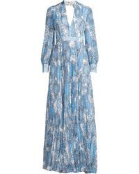 34422c46549 Alice + Olivia - Women s Cheney Pleated Paisley Maxi Dress - Batik  Medallion Soft White Flower