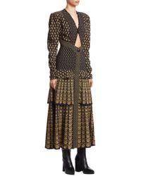 Proenza Schouler - Tiered Puff-sleeve Midi Dress - Lyst