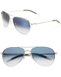Oliver Peoples - Benedict Aviator Sunglasses - Lyst