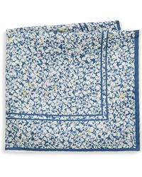 Hook + Albert - Floral Silk Pocket Square - Lyst