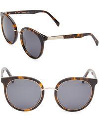 Balmain - 51mm Round Tortoise Sunglasses - Lyst