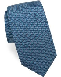 Corneliani - Weave-print Silk Tie - Lyst