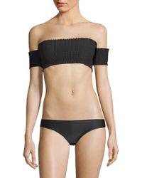 Pilyq - Smocked Off-the-shoulder Bikini Top - Lyst