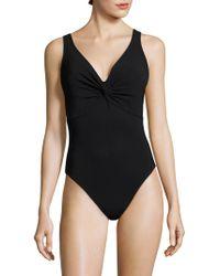 3c04087719 Karla Colletto - Women s V-neck Silent Underwire Bodysuit - Black - Size 6 -