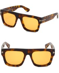 Tom Ford - Fausto 53mm Square Sunglasses - Lyst