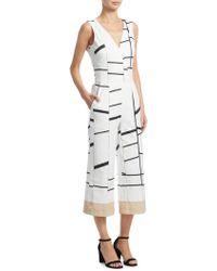 Akris - Cotton V-neck Striped Jumpsuit - Lyst