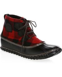 Sorel - Out & About Leather Booties - Lyst