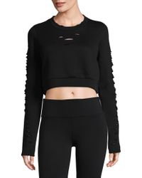 Alo Yoga - Ripped Warrior Long-sleeve Top - Lyst