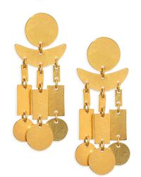 Nest - Hammered Dangle Earrings - Lyst
