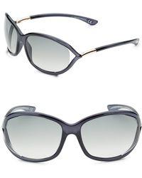 a047232ef0 Tom Ford Jennifer Opentemple Sunglasses Blackgunmetal in Black - Lyst