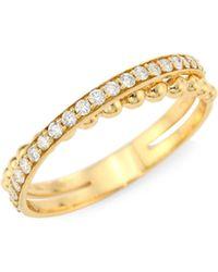 Hueb - Diamond & 18k Yellow Gold Ring - Lyst