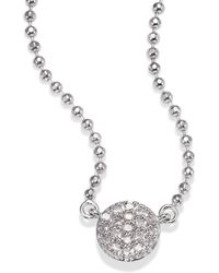 Phillips House - Affair Micro Infinity Diamond & 14k White Gold Pendant Necklace - Lyst