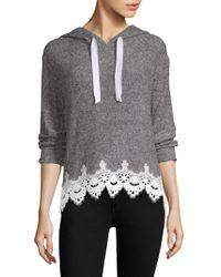 The Kooples - Sweet Fleece Hooded Sweatshirt - Lyst