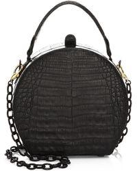 Nancy Gonzalez Billie Crocodile Box Bag - Black