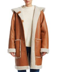 Elizabeth and James - Carver Shearling-lined Leather Coat - Lyst